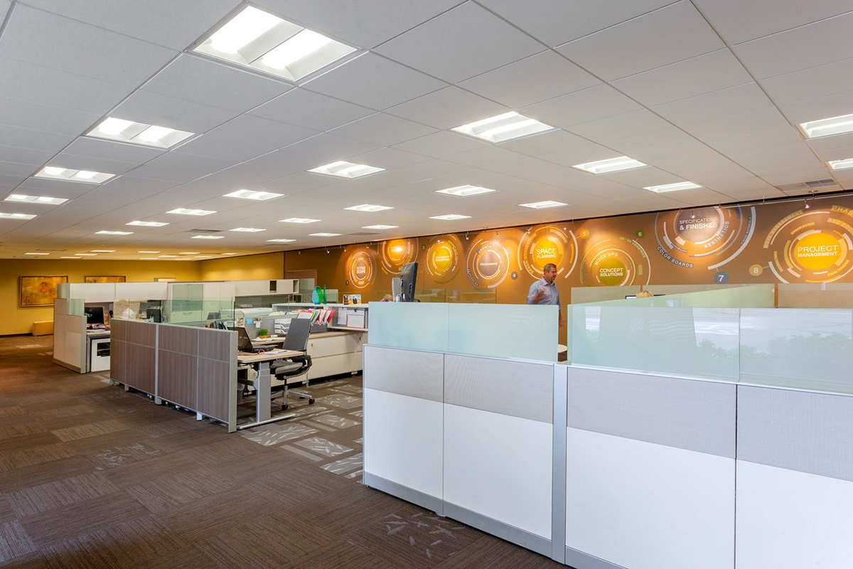 Delightful ... Of Their Corporate Office Into A Class A Showroom For Office  Furnishings, Carpet And Acoustic Ceilings. As Part Of The Project, Big D  Also Added An ...